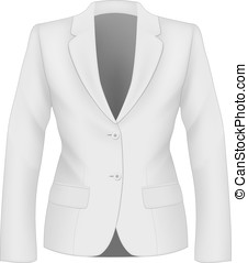 Ladies suit jacket. - Ladies white suit jacket for business...