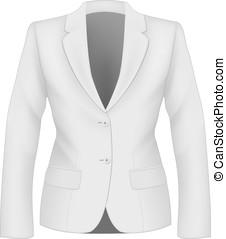 Ladies suit jacket. - Ladies white suit jacket for business ...