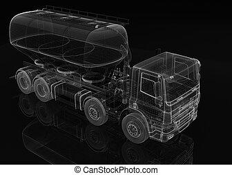 lading, cement, vervoerder