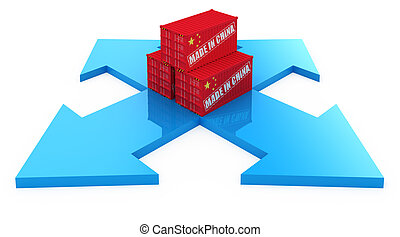 lading, china, containers