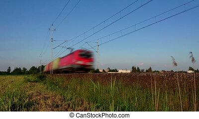 lading trein, vervoeren