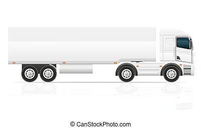 lading, vervoer, groot, illustratie, vector, vrachtwagen, tractor