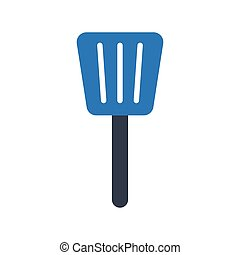 ladle glyph color vector icon
