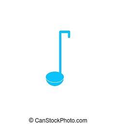 Ladle spoon icon flat.