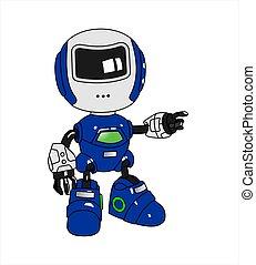 lado, pontos, something., robô
