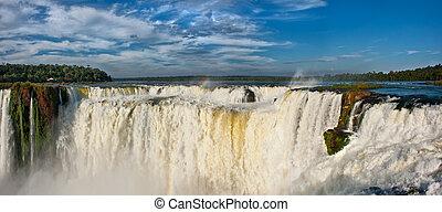 lado, vista, bajas, Argentino,  Iguazu