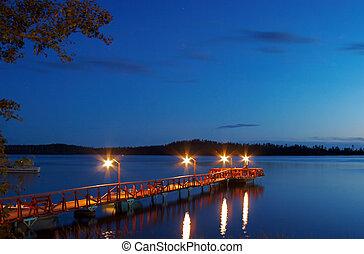 ladoga, βράδυ , karelia, λίμνη , ατάραχα
