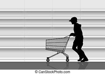 ladrão, supermercado