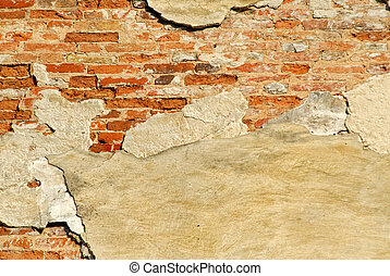 ladrillos, pared, viejo, textura
