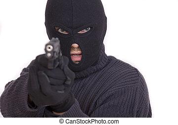 ladro, fucile