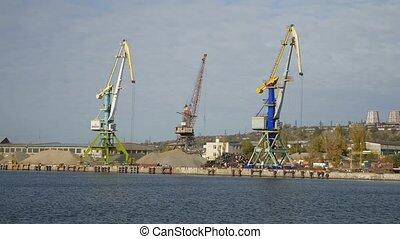 Ladung, laden, Hafen, meer, Schiff, Fluß, kranservice, Ansicht