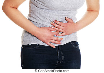 Lady abdominal pain