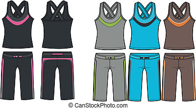lady aerobic sporty set