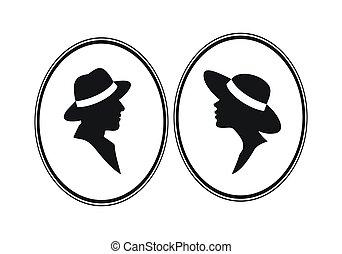 Lady and Gentelman -gender symbol