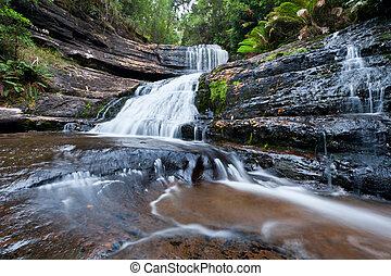 Lady Barron Falls, Mt Field National Park, Tasmania, Australia