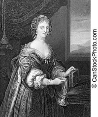 Lady Blanche Arundell (1583-1649) on engraving from 1838. Engraved by J.Cochran and published by the London Printing and Publishing Company.