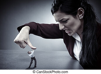 Lady boss crushing her employee