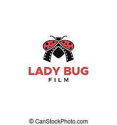 lady bug logo film media entertainment vector for your ...