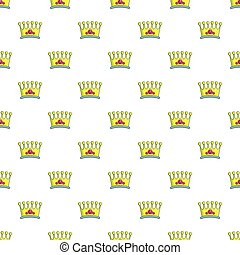 Lady crown pattern seamless