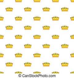Lady crown pattern seamless