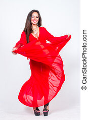 Lady dancer in red