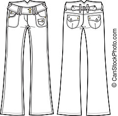 Lady Denim Boot Cut Jeans