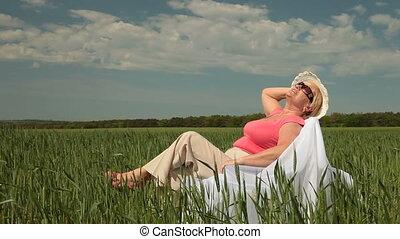lady enjoying summertimeme