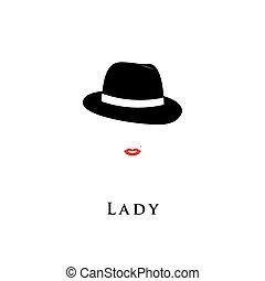 Lady fashion model.