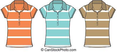 lady fashion polo shirts