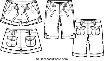 lady fashion shorts in 2 style