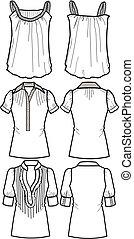 lady fashion tops