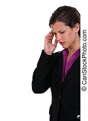 lady having headache