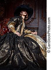 lady in a lush dress