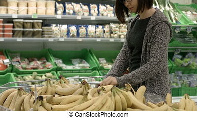 Lady in a supermarket