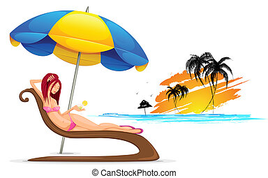 Lady in Beach