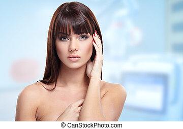 Lady in beauty clinic