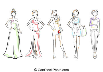 Lady in different Dress