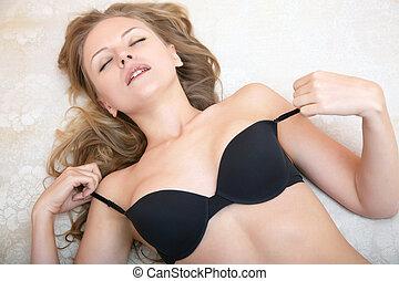 Lady in lingerie