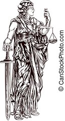 Lady Justice - An original illustration of Lady Justice...