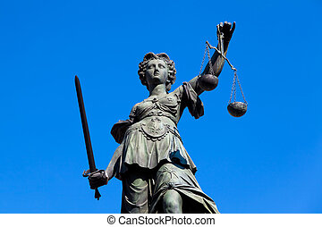 Lady Justice, Frankfurt, Germany. - Statue of Lady Justice...