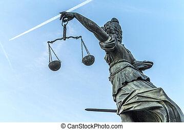 lady justice in Frankfurt - famous lady justice in Frankfurt...