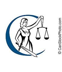 Lady Justice Logo