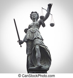 Lady Justice - Statue of Lady Justice in Frankfurt, Germany...