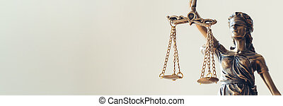 The Statue of Justice - lady justice / Justitia the Roman goddess of Justice