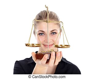 Lady justice - Woman holding scale of justice