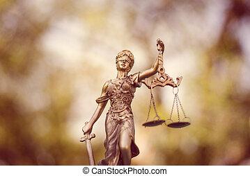 Lady Justice - sculpture of themis, femida or justice...
