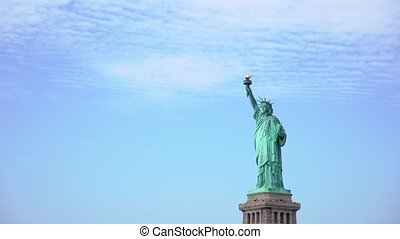 Lady Liberty statue in New York city, USA