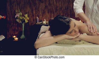 Lady massage in spa