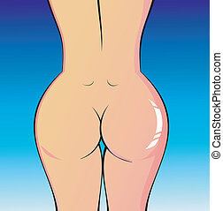 Lady Naked Body  - A perfect woman naked body illustration