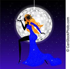 lady-night in blue